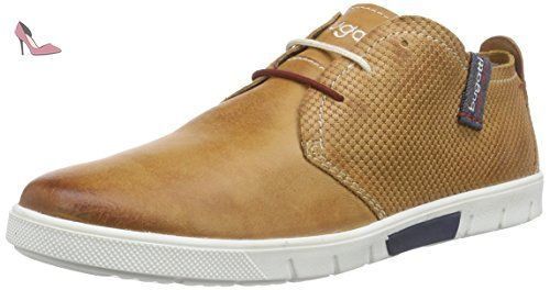 Bugatti 311140022121, Sneakers Basses Homme, Marron (Cognac/Dark Blue 6341), 40 EU