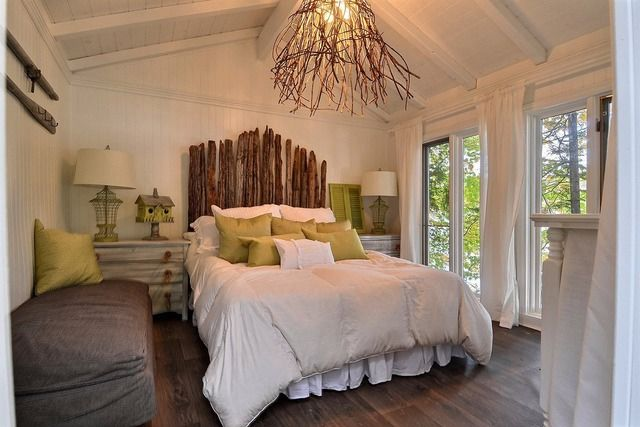 id e luminaire de salon avec branche de saule tortuosa et lumi res de no l chalet pinterest. Black Bedroom Furniture Sets. Home Design Ideas