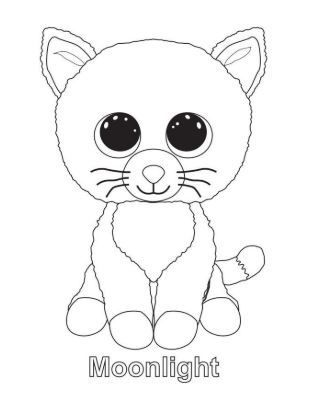 Beanie Boo Moonlight Coloring Pages Coloring Pages Cat