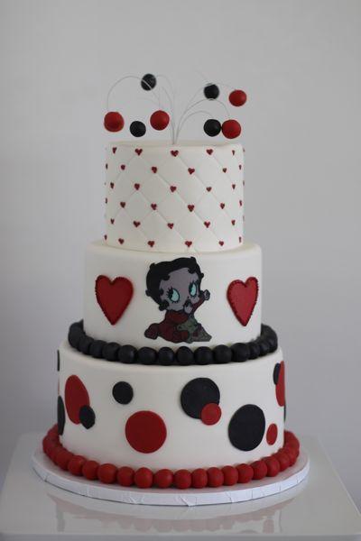 Betty Boop Cake love this cake CookiesDeserts Pinterest