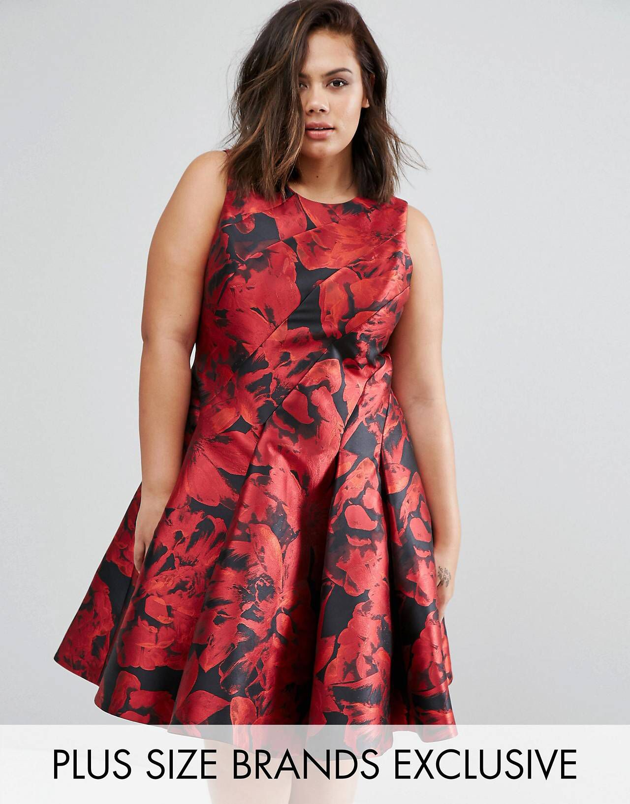92d766fdbf54 Coast Plus Monique Rose Print Dress | Curves for Days✨ | Rose print ...