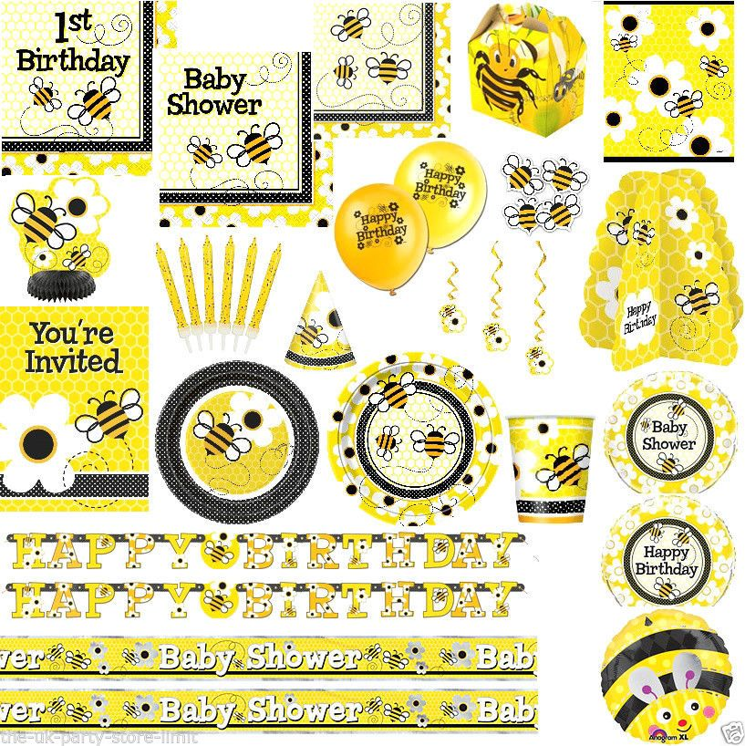 BUSY BEE 1st Birthday Party Or Baby Shower Decoration