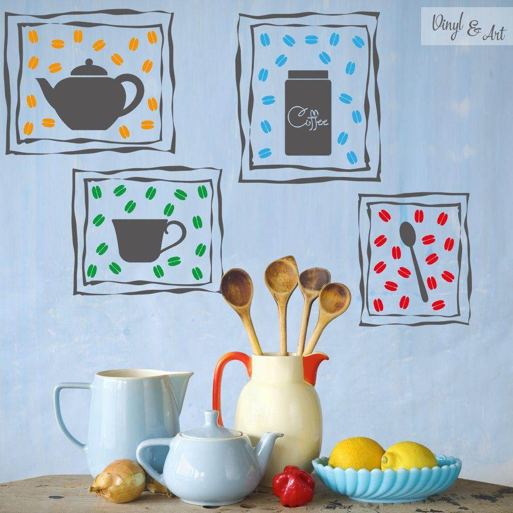Vinilo Adhesivo Decorativo Cocina - Cuadros Coffee. Café, café, café. La palabra resuena en tu mente nada más oír el despertador. Son muchos los que no pueden empezar el día sin una buena taza de esta bebida, que ha conseguido posicionarse como la segunda más consumida en el mundo por detrás del agua. Una buena taza de café recién hecho es indispensable para empezar el día! #vinilos #adhesivos #decorativos #vinylandart #arte #inspiracion #diseño #cocina #cafe www.vinylandart.com