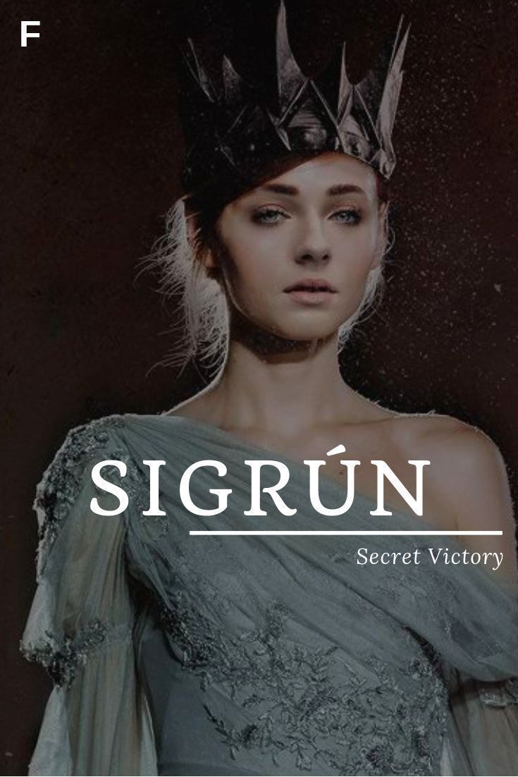 Photo of baby girl names #babygirlnames Sigrun meaning Secret Victory Old Norse names S b… – baby names