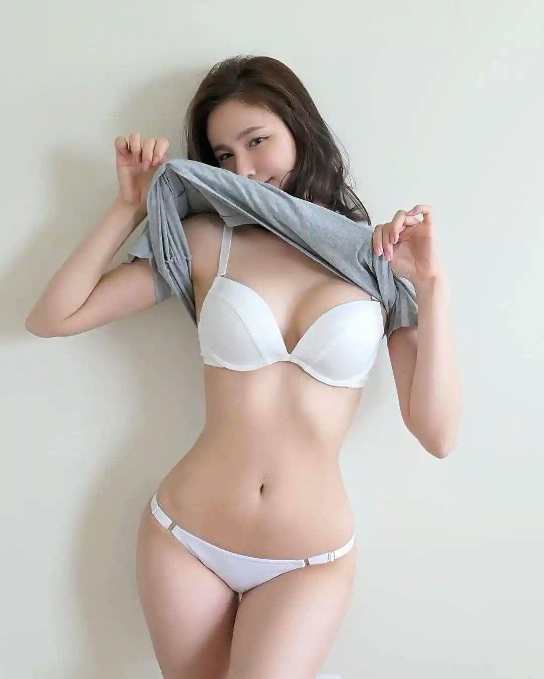 Asian girls in bra