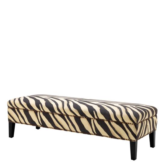 Swell Zebra Print Bench Eichholtz Jenner In 2019 Bench Machost Co Dining Chair Design Ideas Machostcouk
