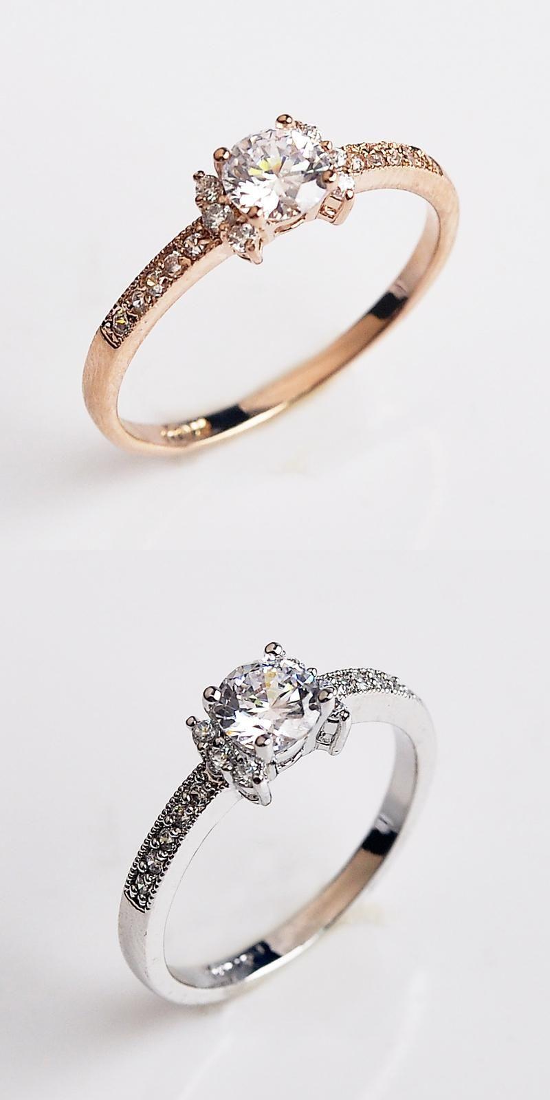 [Visit To Buy] USTAR Zircon Jewelry Wedding Rings For Women Fine Jewelry  Austria Crystal