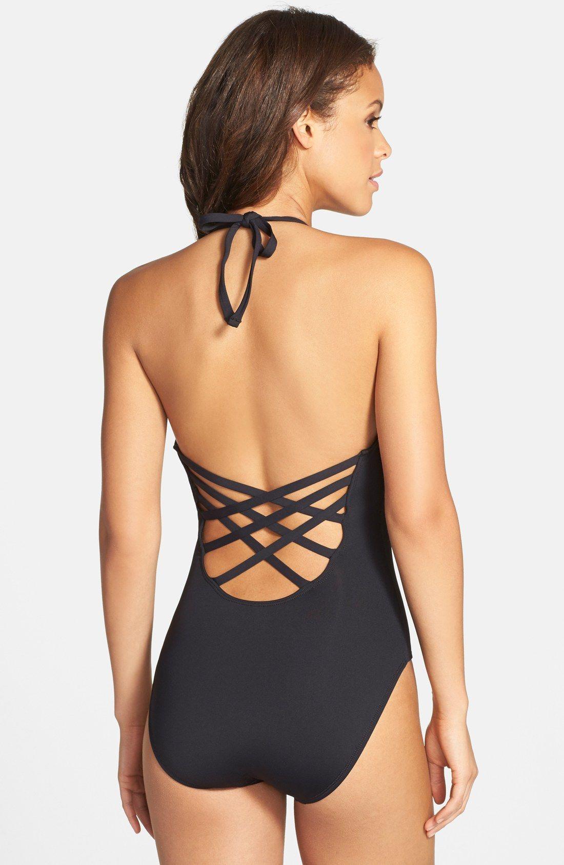 517e00e412 La Blanca Caged Strap One-Piece Swimsuit