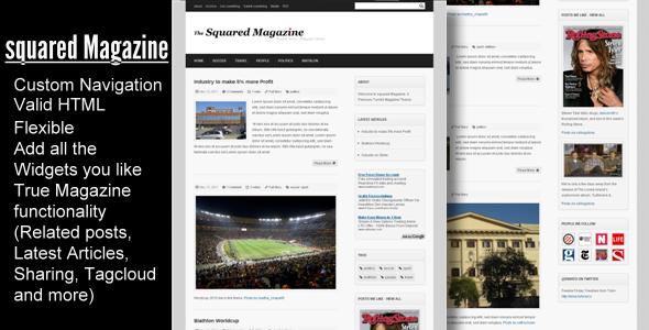 Squared Magazine - Tumblr News / Magazine Theme | Design