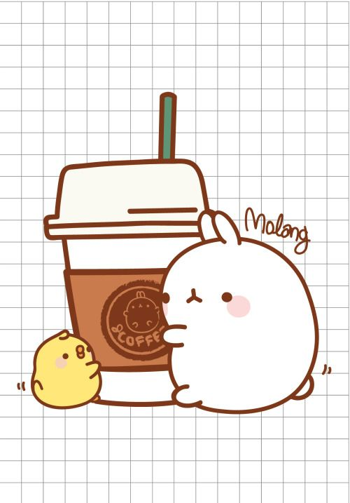 Cafe coffee with molang check out my ultimate board for - Cute coffee wallpaper ...