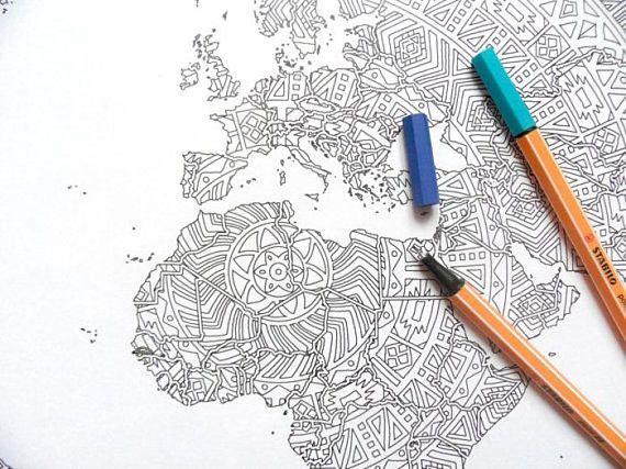 World Map Coloring Page For Kindergarten Jpg 849 598 Pixels