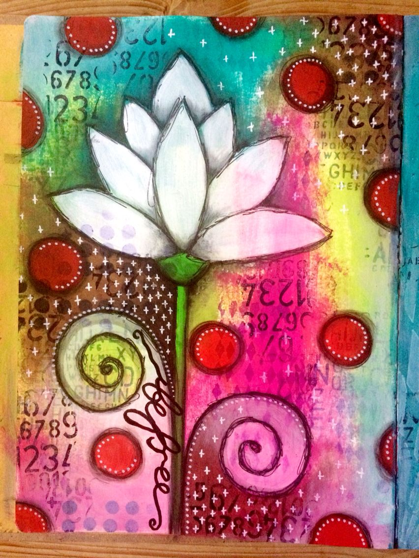 Fabulous dylusions paint art journal page mixed for Journal painting ideas