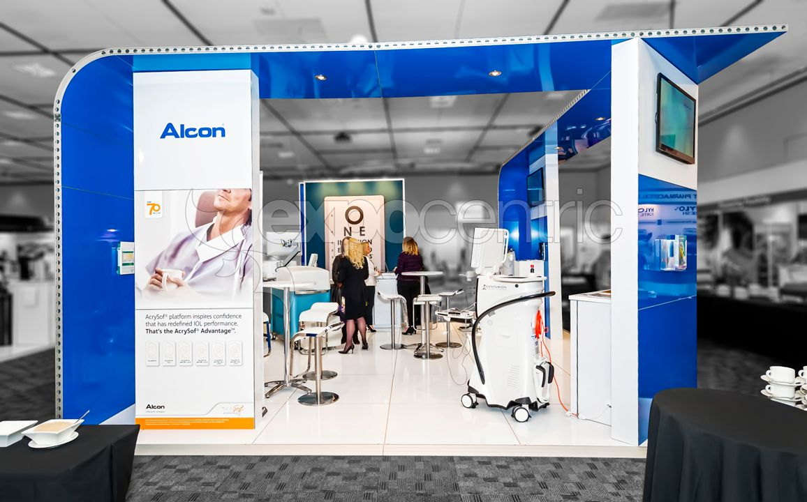 Exhibition Stand Builders Jobs : Alcon exhibition stand designed and constructed by
