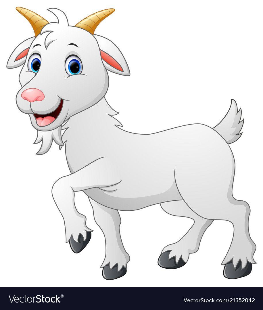 Cartoon Goat Character Royalty Free Vector Image Goat Cartoon Cute Bunny Cartoon Animal Drawings
