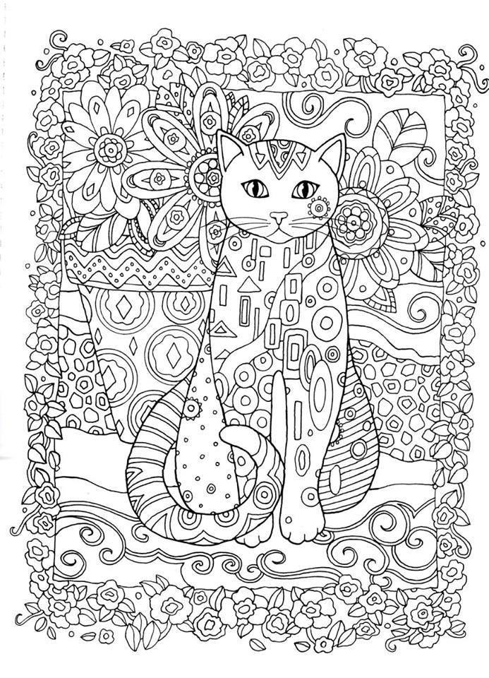 gatos 8 | Gatitos | Pinterest | Gato, Colorear y Mandalas
