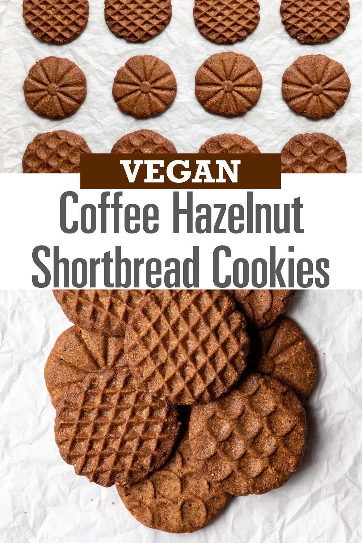 Vegan Coffee Hazelnut Shortbread Cookies