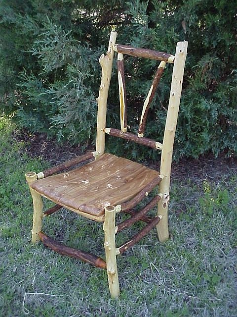 Natural Tree Furniture Rustic Stick Twig Custom Side Chair Diy