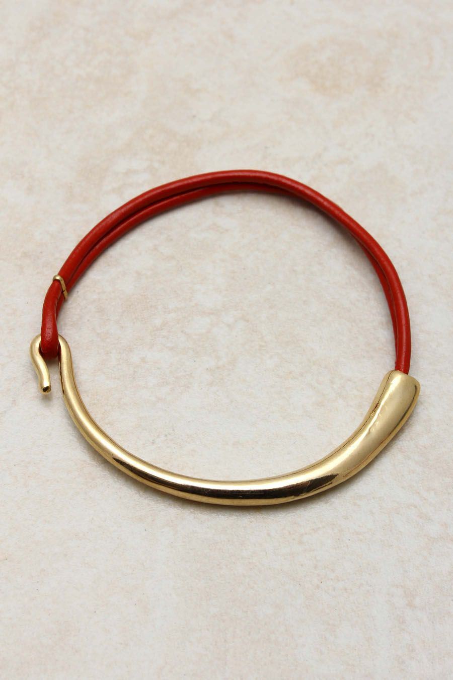 Ruby Golden Mia Bracelet | yes, with the red leather..i like