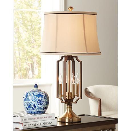 Margo Brass 4 Light Nightlight Table Lamp 9h354 Lamps Plus Table Lamp Lamp Night Light