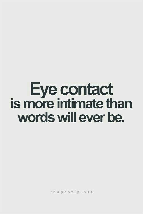 Tja, doof nur, wenn der Augenkontakt zwischen deinem Mann und einer anderen stattfindet.....