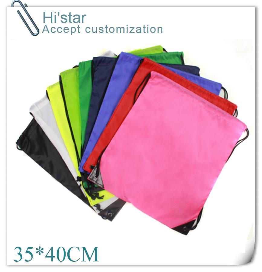 8a94f0f18a3f5 35*40cm drawstring oxford Reusable Storage Bags Drawstring Backpack ...