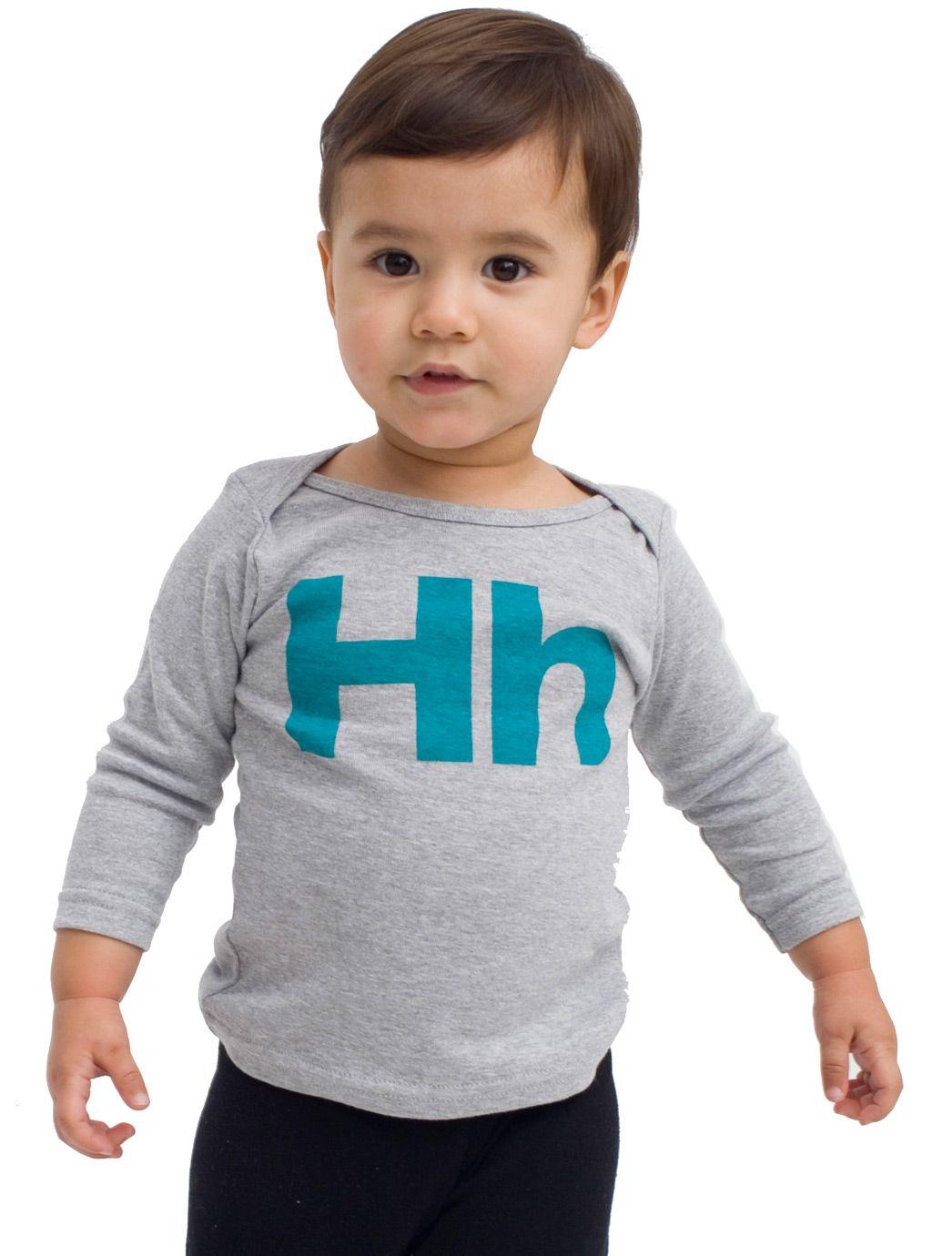 Love! > American Apparel - Helvetica Infant Long Sleeve Lap T