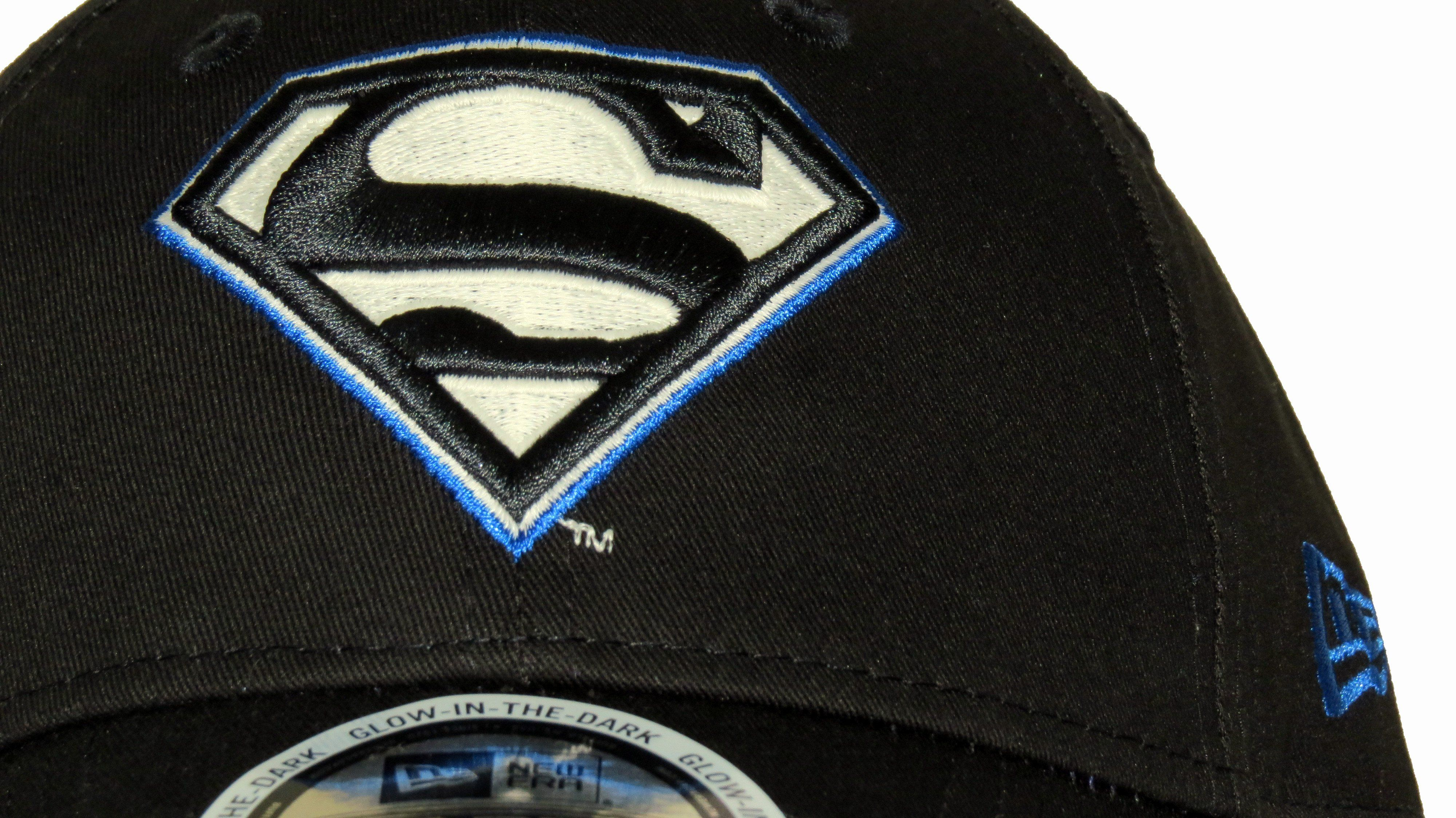 bee0ed3eab0 New Era 9Forty DC Comics Glow In The Dark Adjustable Cap. Black with the  Blue
