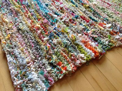 Knitted Rag Rug From Crazy Mom Quilts