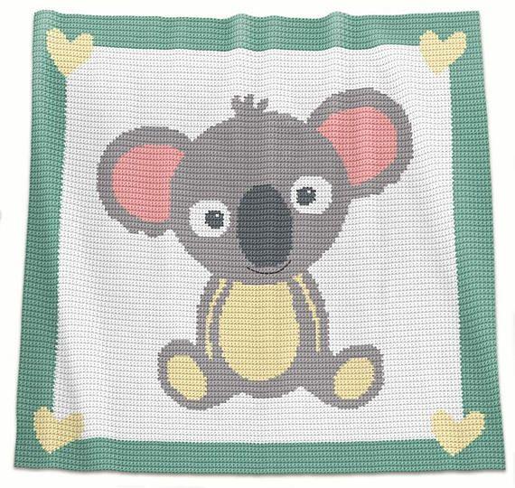 Crochet Blanket Pattern Crochet Baby Blanket Pattern Koala | manta ...