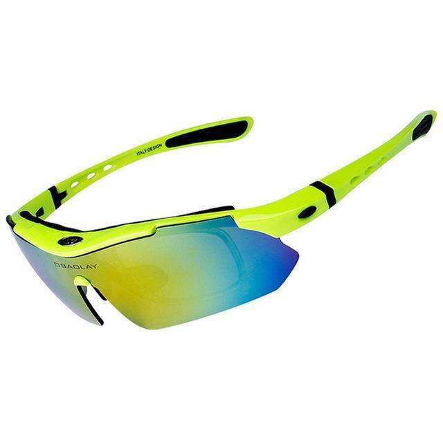 e2abba24c45 OBAOLAY Brand 100% Speedcraft Polarized Outdoor Sports Cycling Glasses  UV400 Men Women Bike Bicycle Eyewear Goggles Sunglasses man …