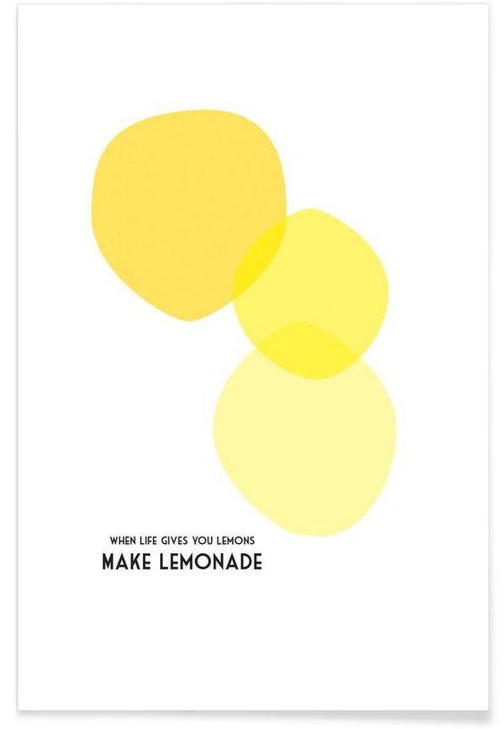 Lemons 2 en affiche premium par trabolt design juniqe pulcodeco muridées