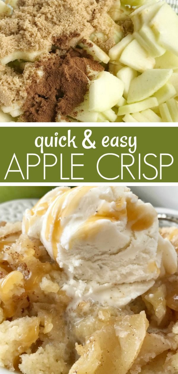 Simple Apple Crisp | Together as Family