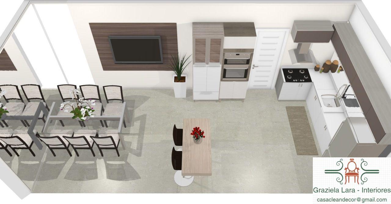 Decora O De Sala De Jantar Copa Integrada A Cozinha  ~ Balcão Grande Para Cozinha Acozinha Com Sala De Jantar
