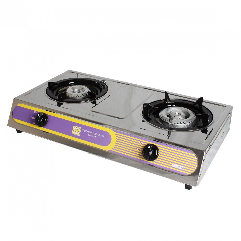 Thunder Group Slst002 Gas Double Burner Countertop Hot Plate Gas Hot Plate Double Burner Countertop Hot Plate