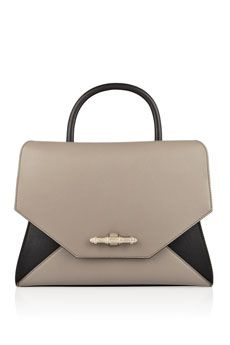 Givenchy Obsedia small shoulder bag in gray and black leather  | NET-A-PORTER