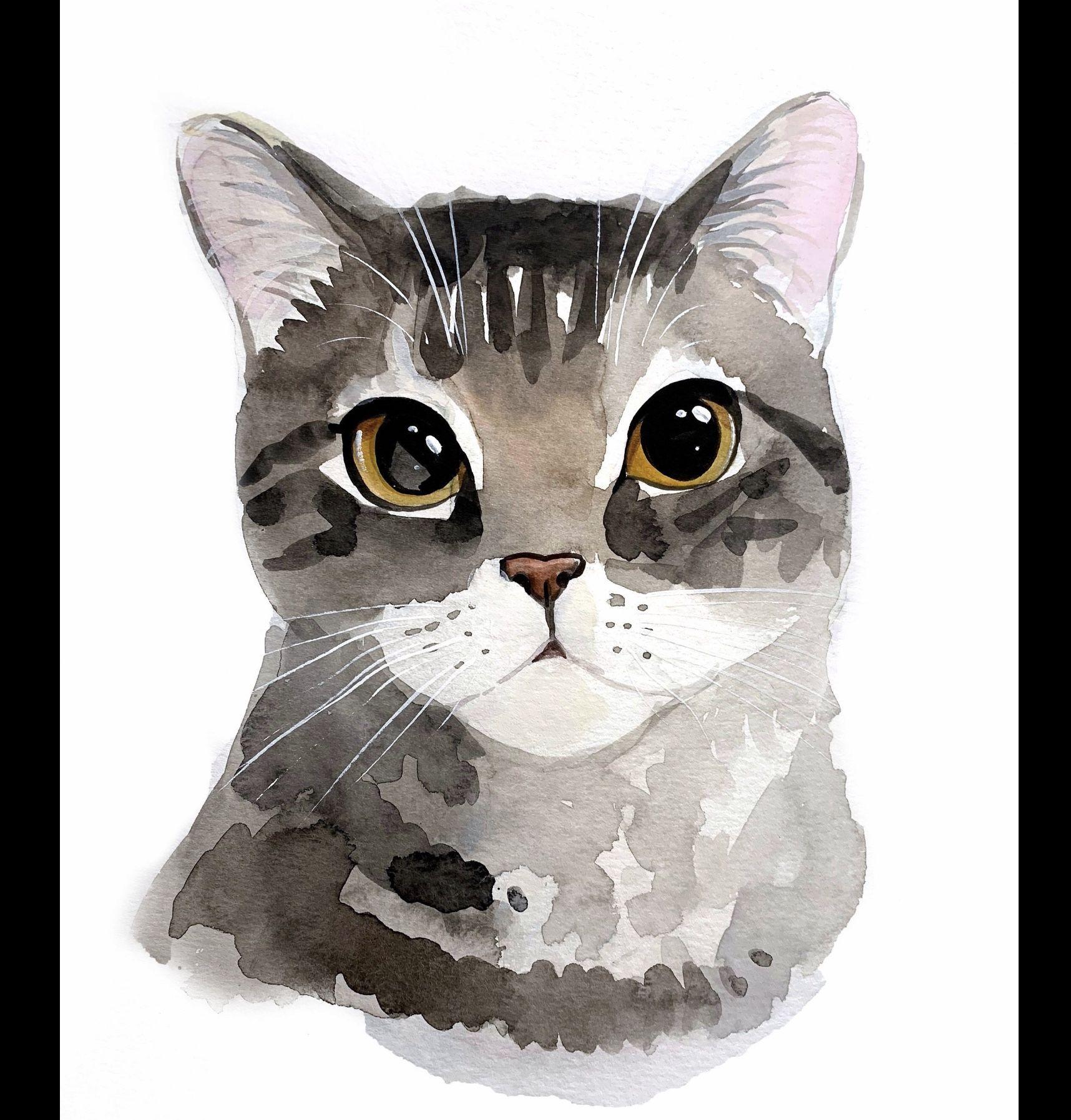 Pin De Noelia En Art Cats Gato De Acuarela Ilustracion Acuarela Ilustración De Gato