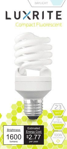 Luxrite Lr20200 2pack 23watt Cfl T2 Mini Spiral Light Bulb Equivalent To 100w Incandescent Day Light 6500k 1600 Lumens E26 St Light Bulb Bulb Incandescent Lamp