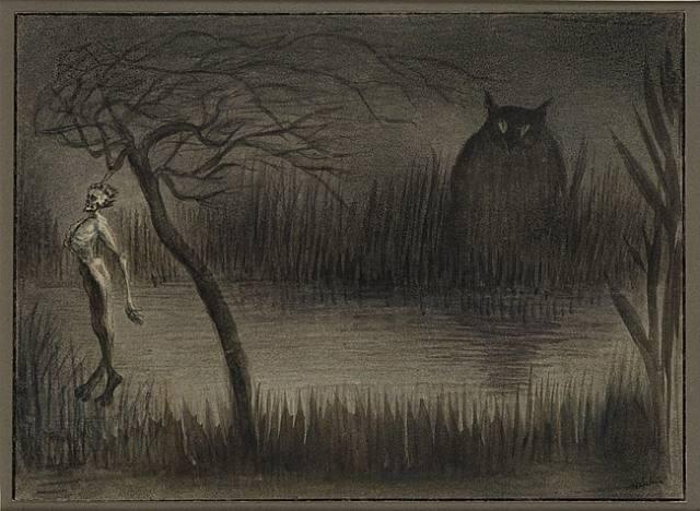 Альфред Кубин. «Пруд» 1906