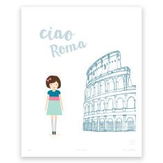 Ciao Roma art print