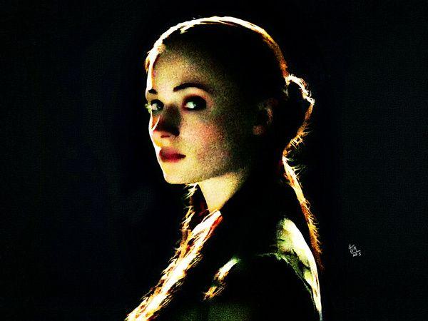 Portrait of Game of Thrones character Sansa Stark. #got #sansa #gameofthrones #art #portraits #fantasyart