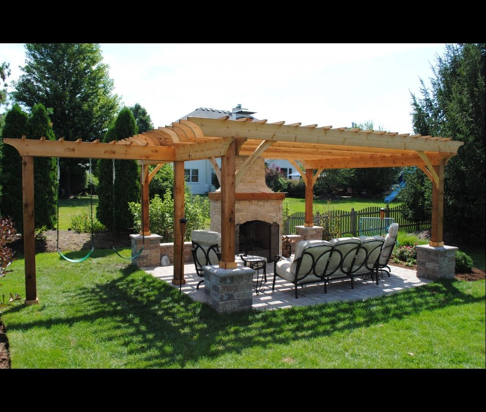 pergola with swings but i would want a swinging bench. Black Bedroom Furniture Sets. Home Design Ideas