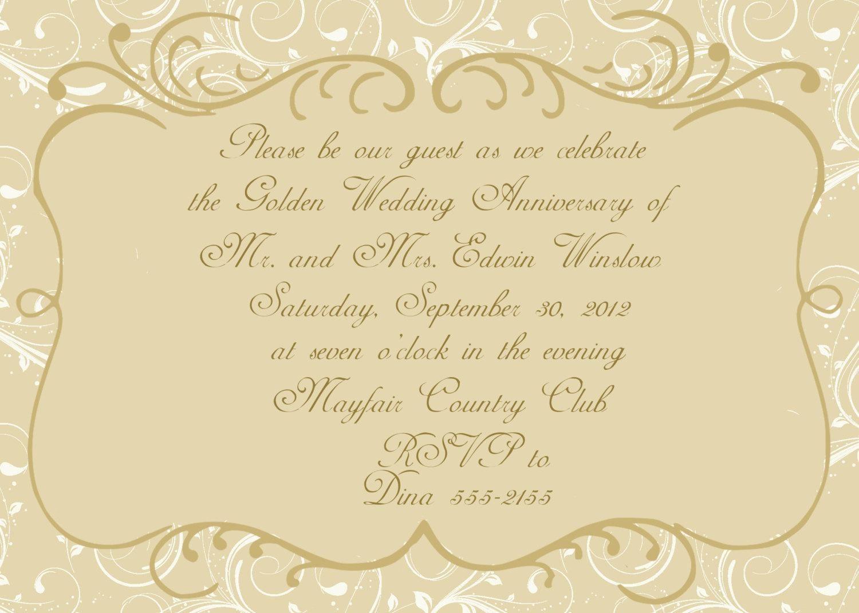 Golden Wedding Anniversary Invitations Golden Weddin Golden Wedding Anniversary Invitations 50th Anniversary Invitations 50th Wedding Anniversary Invitations