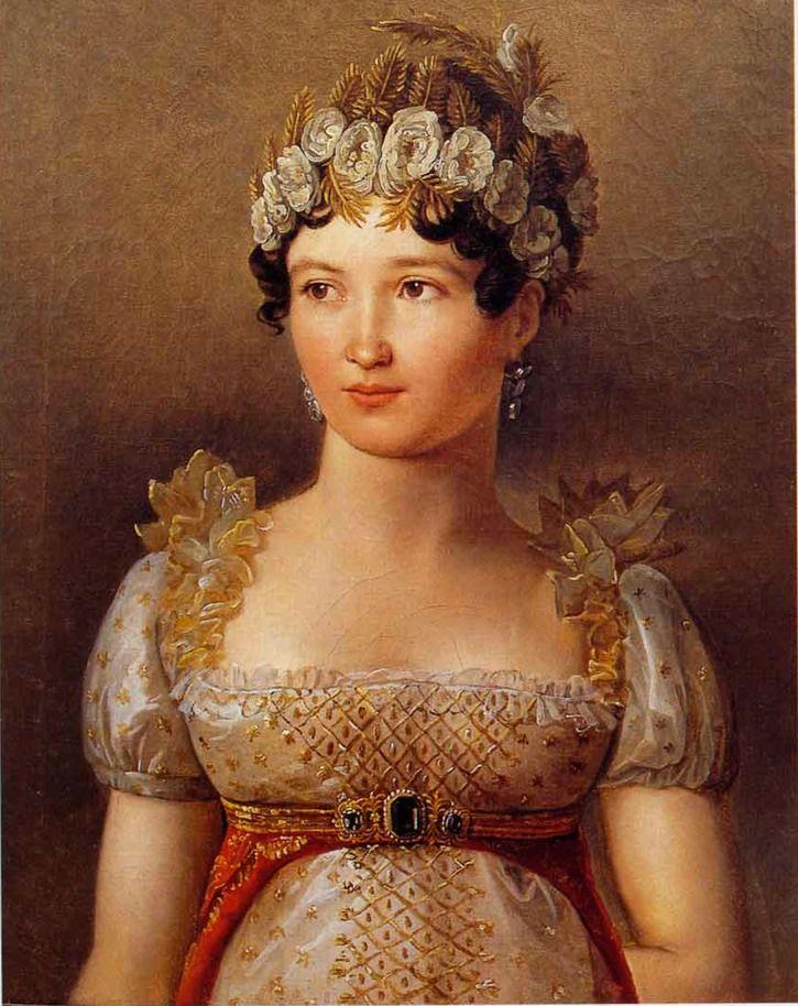 1809 Carolina Bonaparte Murat By Jean Baptiste Wicar Galleria Nazionale Dell Umbria Perugia Italy Grand Ladies Gogm Bonaparte Portrait Napoleon