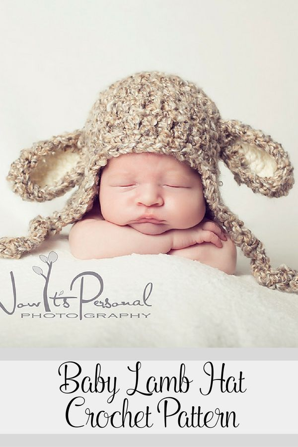 Crochet Pattern -- this super cute baby lamb hat is perfect for ...