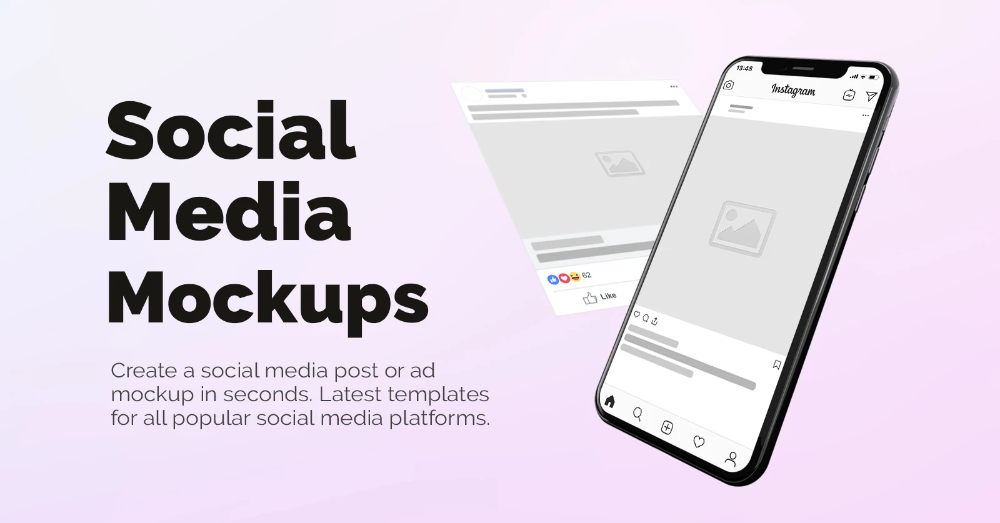 Visualize Your Social Media Marketing Campaigns With Online Ad Mockup Generator Make Facebook Instagram T Social Media Mockup Social Media Post Social Media
