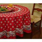 pierre deux en rouge  I love pretty tablecloths