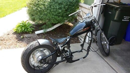seat and rear fender mounted honda shadow bobber build. Black Bedroom Furniture Sets. Home Design Ideas