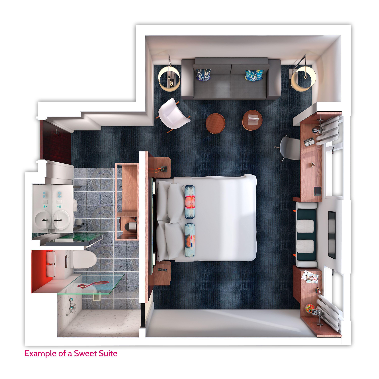 Pin Di Floor Plan Hotel Room