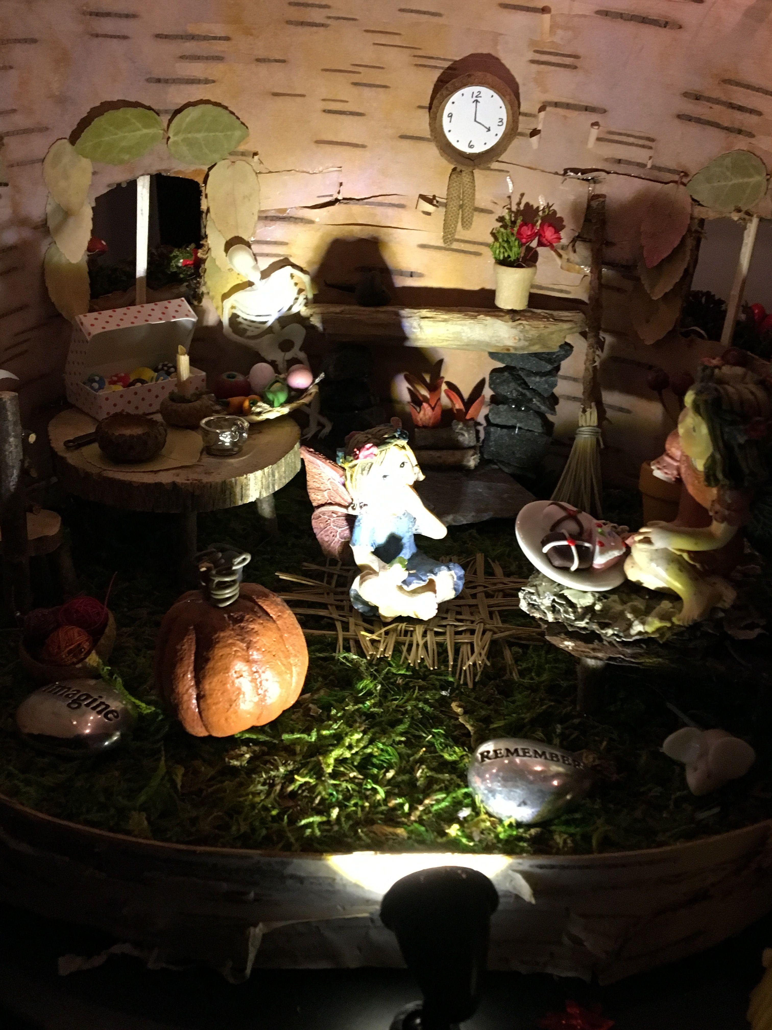 Pin by Liz Wolczko on Indoor Fall/Halloween Fairy Garden