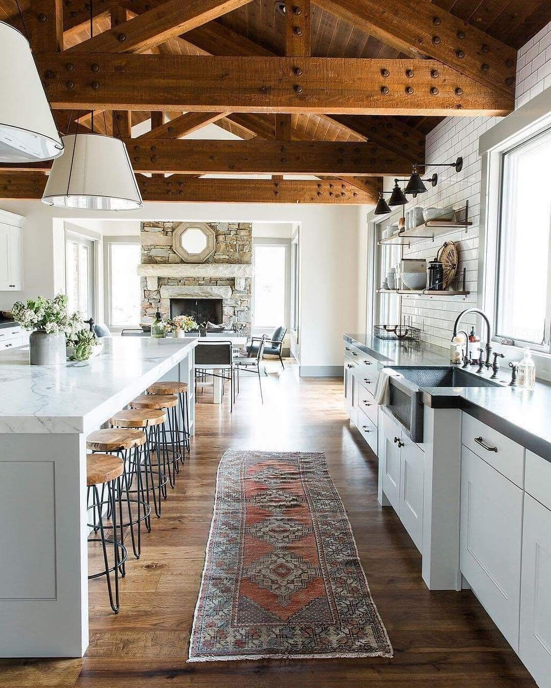 Rustic Modern Kitchen Adn Living Room By Studio Mcgee Park City Canyons Remodel